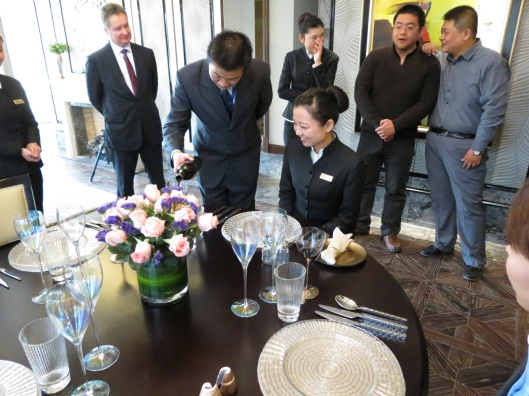 Chinese Butler Students on the Butler training course in China Dec 2012