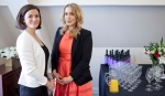Sara Vestin Rahmani and Wine expert Alise Suisse from Top Selction winesBritish Butler Academy in training-