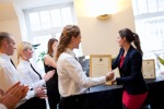 Happy students get their certificates-British Butler Academy in training-
