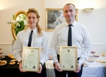 Graduated Butlers with their certificates-British Butler Academy in training-